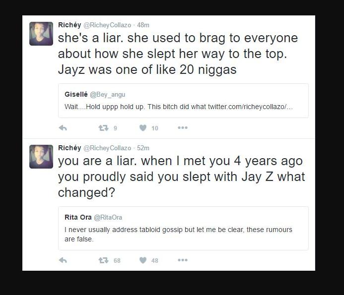 Rita Ora Slept with Jay-Z